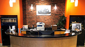 Front desk of the Bellingham ABR office